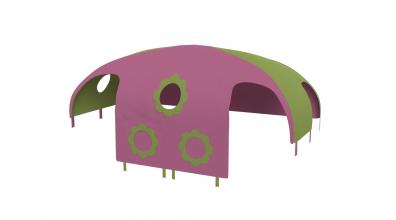 Domeček stan pro dělené čelo a zábranu A B pravý - růžovo/zelený