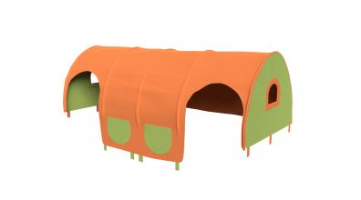 Domeček tunel pro zábranu A B - zeleno/oranžový
