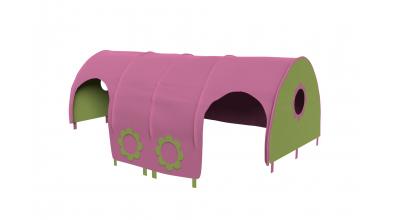 Domeček tunel pro zábranu A B - růžovo/zelená