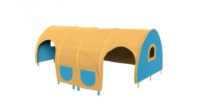 Domeček tunel pro zábranu A B - žluto/tyrkysový
