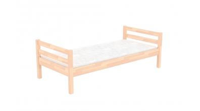 Jednolůžko bez zábrany buk cink, dětská postel z masivu