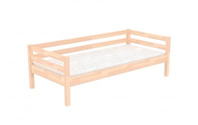 Jednolůžko se zábranou buk cink, dětská postel z masivu