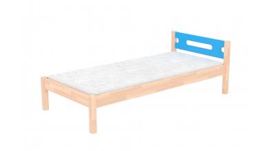 Jednolůžko BUBLINY s nízkým čelem buk cink, dětská postel z masivu