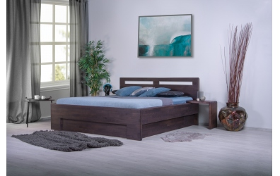 Manželská postel MESSINA 180 cm buk cink