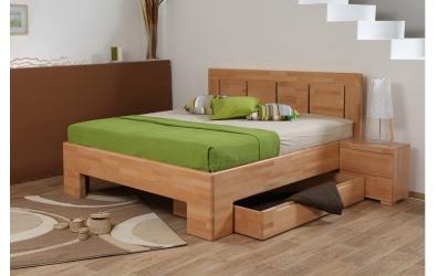 Manželská postel SOFIA čelo rovné 4 výplně 180 cm buk cink
