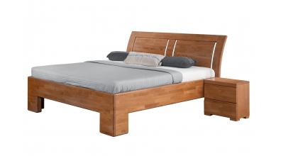 Manželská postel SOFIA čelo oblé 3 výplně 180 cm buk cink