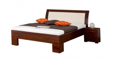 Manželská postel SOFIA čelo oblé čalouněné 180 cm buk cink