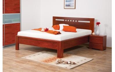 Manželská postel FLORENCIA čelo rovné čtverečky 180 cm buk cink