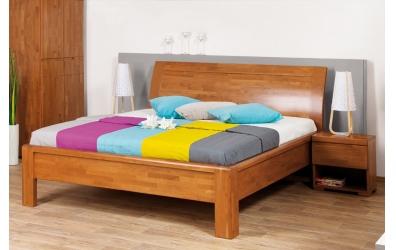 Manželská postel FLORENCIA čelo oblé plné 180 cm buk cink