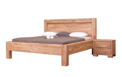 Manželská postel IMPERIA čelo oblé 180 cm dub cink