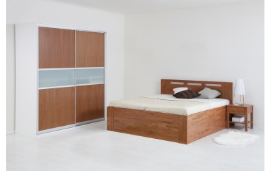 Manželská postel VALENCIA Senior s úložným prostorem 180 cm buk cink