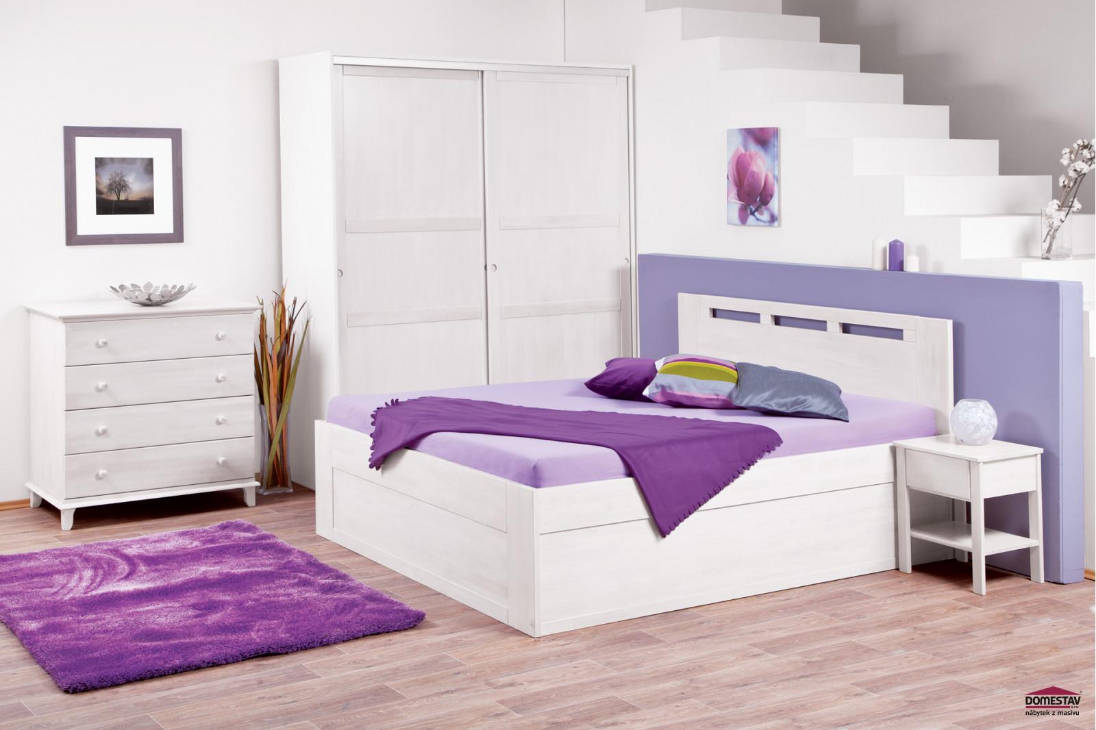 68737a1dc4e7 Manželská postel VALENCIA Senior s úložným prostorem 180 cm buk cink.  Katalogové číslo 191 BC