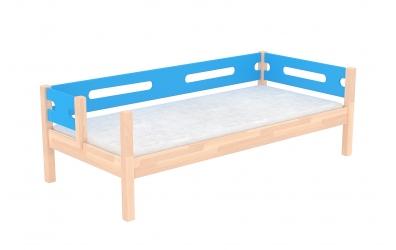Jednolůžko BUBLINY dělené čelo pravé buk cink, dětská postel z masivu