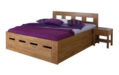 Manželská postel MERIDA Senior s úložným prostorem 160 cm buk cink