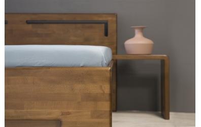 Manželská postel SOFIA čelo rovné s výřezy L 160 cm buk cink
