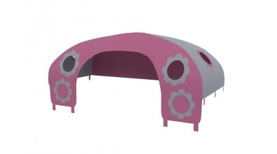 Domeček stan pro zábranu C - růžovo/šedý
