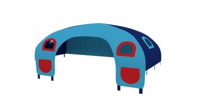 Domeček stan pro zábranu C - tyrkysovo/modrý
