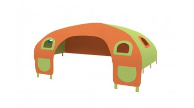 Domeček stan pro zábranu C - zeleno/oranžový