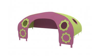 Domeček stan pro zábranu C - růžovo/zelený