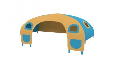 Domeček stan pro zábranu C - žluto/tyrkysový