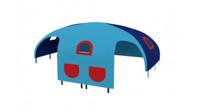 Domeček stan pro zábranu A B - tyrkysovo/modrý