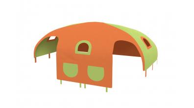 Domeček stan pro zábranu A B - zeleno/oranžový