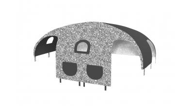 Domeček stan COMICS pro dělené čelo a zábranu A B pravý černobílý