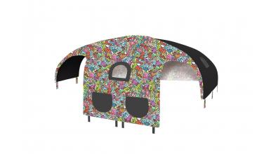 Domeček stan COMICS pro dělené čelo a zábranu A B levý barevný