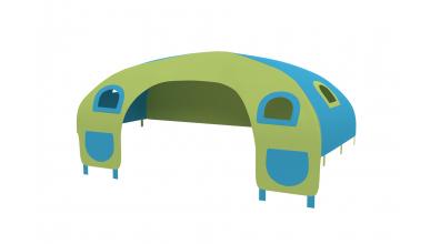 Domeček stan pro zábranu C - tyrkysovo/zelený