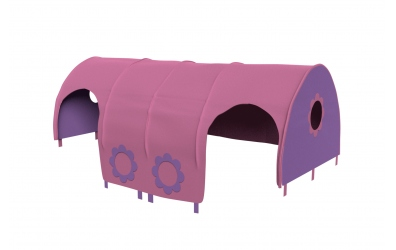 Domeček tunel pro zábranu A B - růžovo fialová