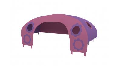 Domeček stan pro zábranu C - růžovo/fialový
