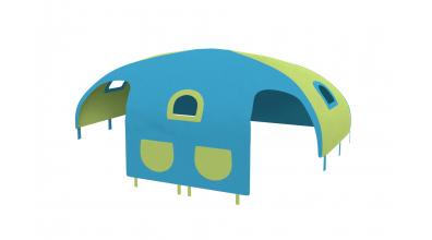 Domeček stan pro zábranu A B - tyrkysovo/zelený
