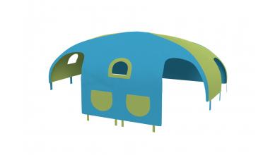 Domeček stan pro dělené čelo a zábranu A B pravý - tyrkysovo/zelený