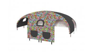 Domeček stan COMICS pro dělené čelo a zábranu A B pravý barevný