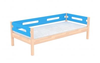 Jednolůžko se zábranou BUBLINY buk cink, dětská postel z masivu