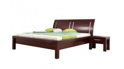 Manželská postel MANON s oblým čelem 3 výplně 180 cm buk cink