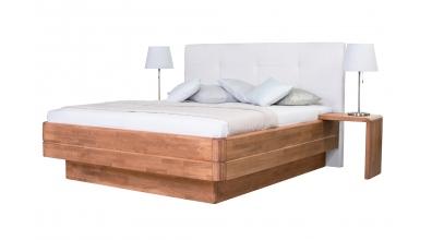 Manželská postel FANTAZIE Grande čelo čalouněné 180 cm buk cink