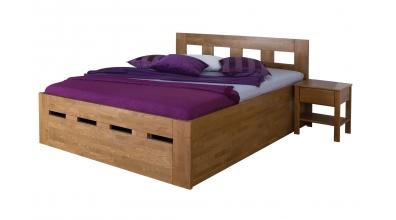 Manželská postel MERIDA Senior s úložným prostorem 180 cm buk cink