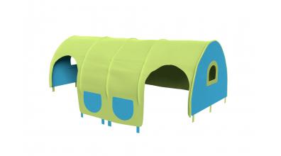 Domeček tunel pro zábranu A B - tyrkysovo/zelený