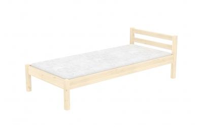 Jednolůžko s nízkým čelem smrk, dětská postel z masivu