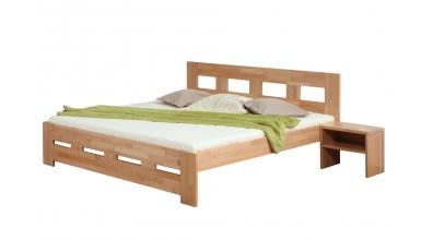 Manželská postel MERIDA 160 cm buk cink