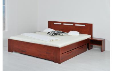 Manželská postel VALENCIA 160 cm buk cink