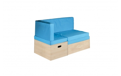 Rozkládací sedačka úložným prostorem smrk