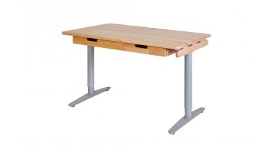 Psací stůl s kovovou podnoží 132 cm buk cink