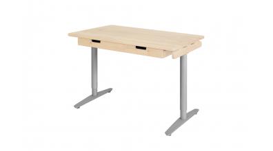 Psací stůl s kovovou podnoží 132 cm smrk