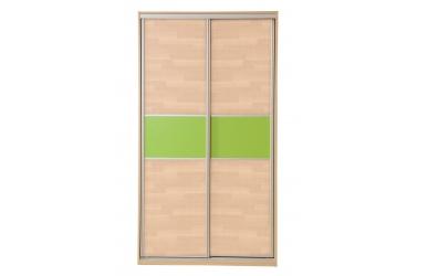 Skříň s posuvnými dveřmi 120 cm buk cink