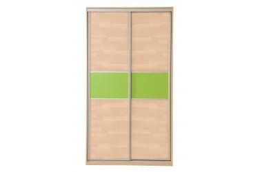Skříň s posuvnými dveřmi 120 cm lamino, dveře buk cink