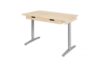 Psací stůl s kovovou podnoží 110 cm smrk