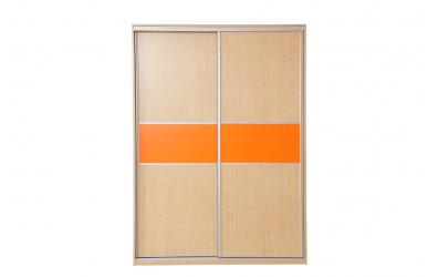 Skříň s posuvnými dveřmi 160 cm lamino, dveře smrk