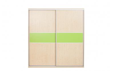 Skříň s posuvnými dveřmi 195 cm lamino, dveře smrk